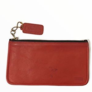 Coach vintage red leather case multifunctional